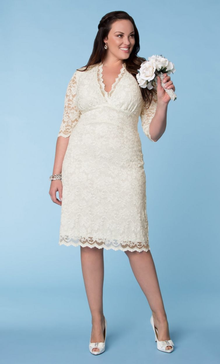 Wedding dresses plus size short