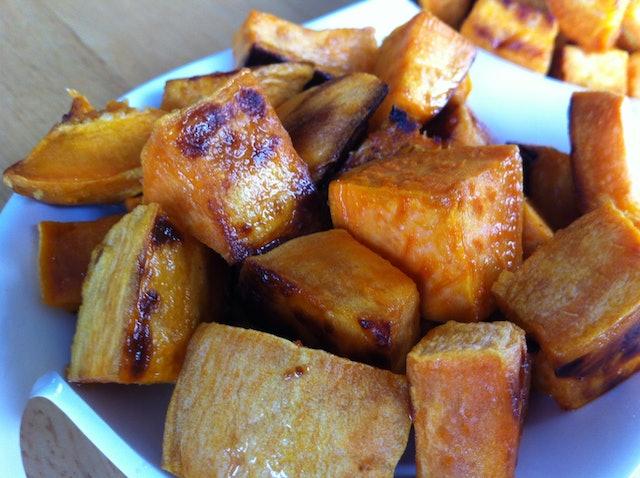 Apple Cider Vinegar Glazed Sweet Potatoes