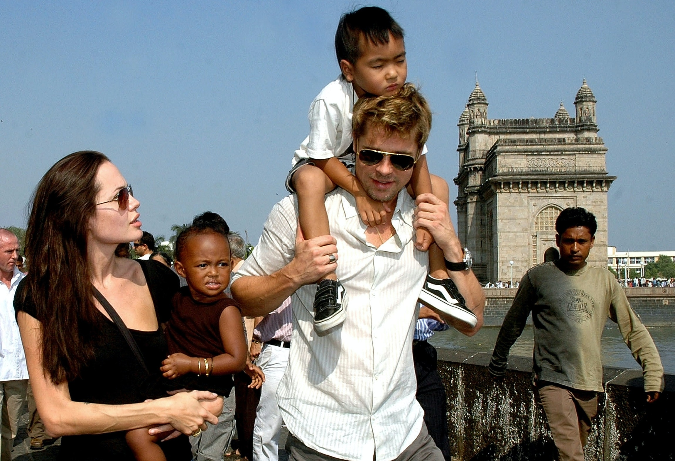 Angelina Jolie and Brad Pitt's son Maddox meets with dad