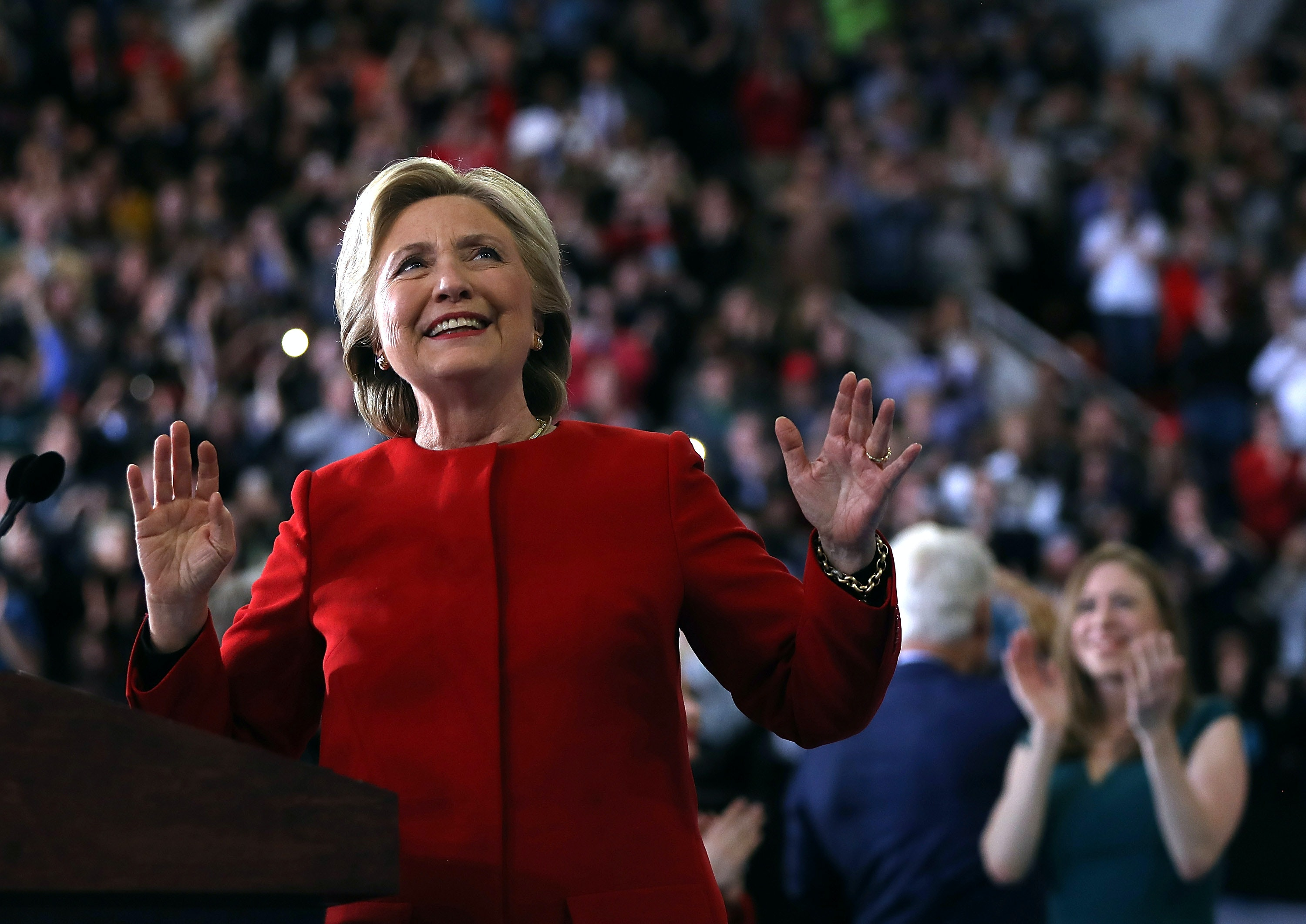 Hillary Clinton: Upbeat, Smiling, And Sprinting To The End