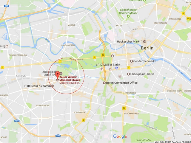 This Map Of Berlin Shows Where The Holiday Market Attack Took Place - Mall of berlin map