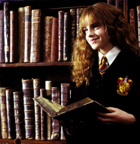 Image result for hermione reading a book