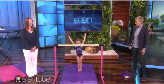 3-Year-Old Gymnast Emma Wows the Ellen Show Audience