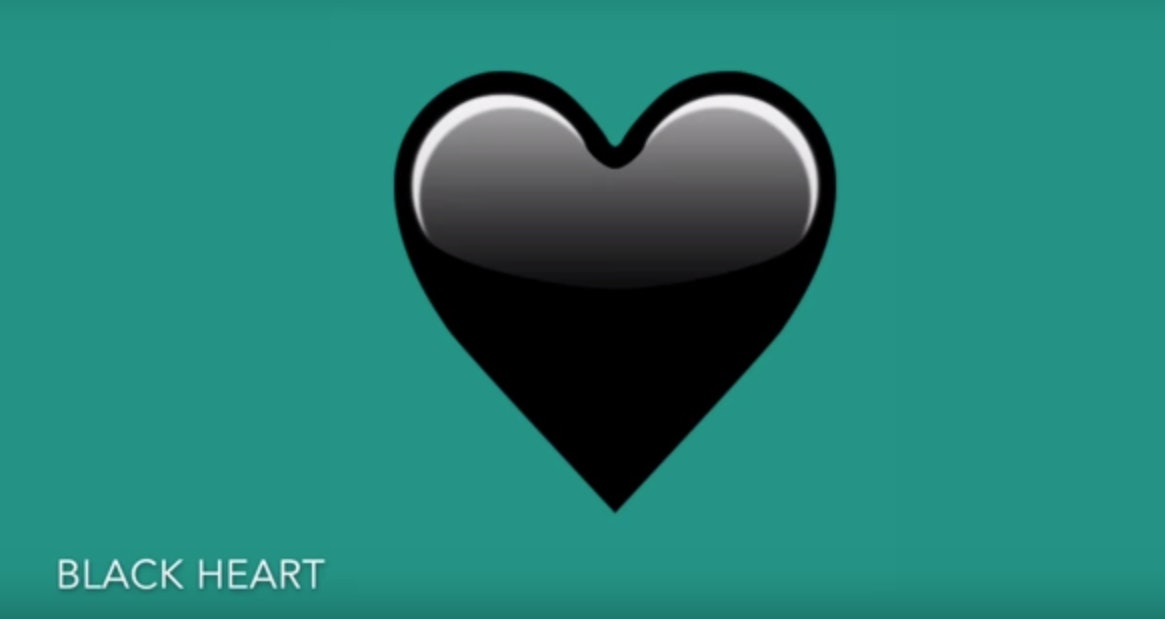 What Does The New Black Heart Emoji Mean? It Lets The Deepest ...