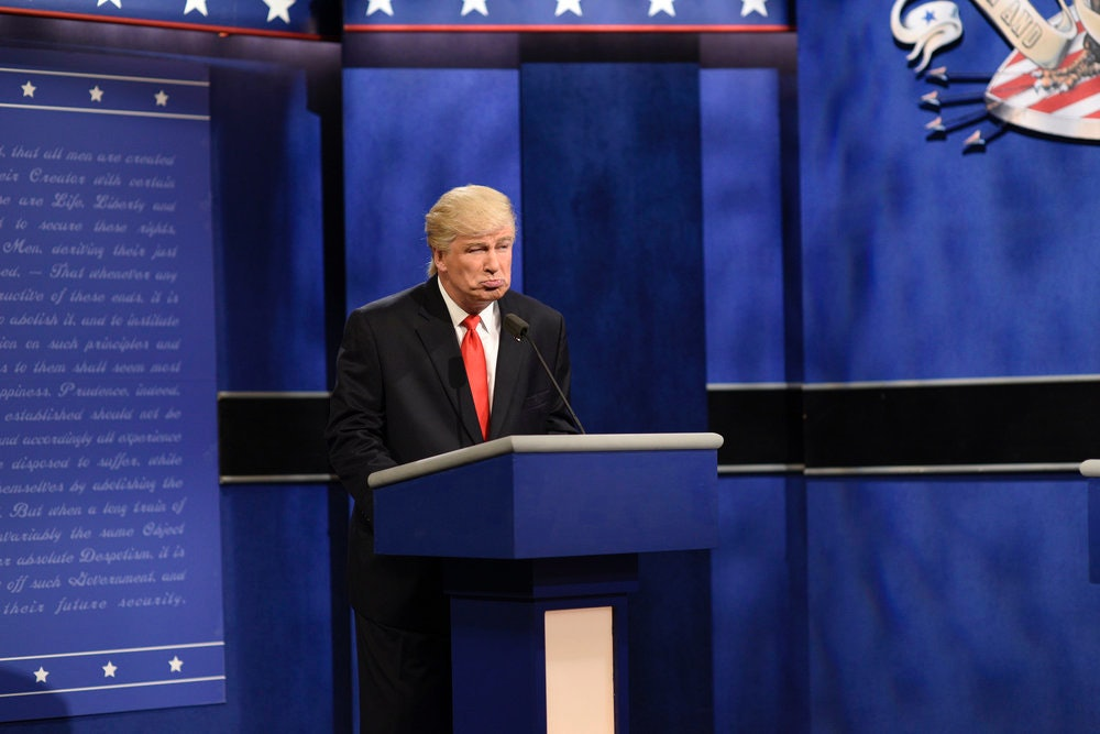 Watch Alec Baldwin mock the latest weird Donald Trump stories on SNL