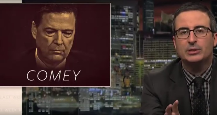 Image result for john oliver trump comey