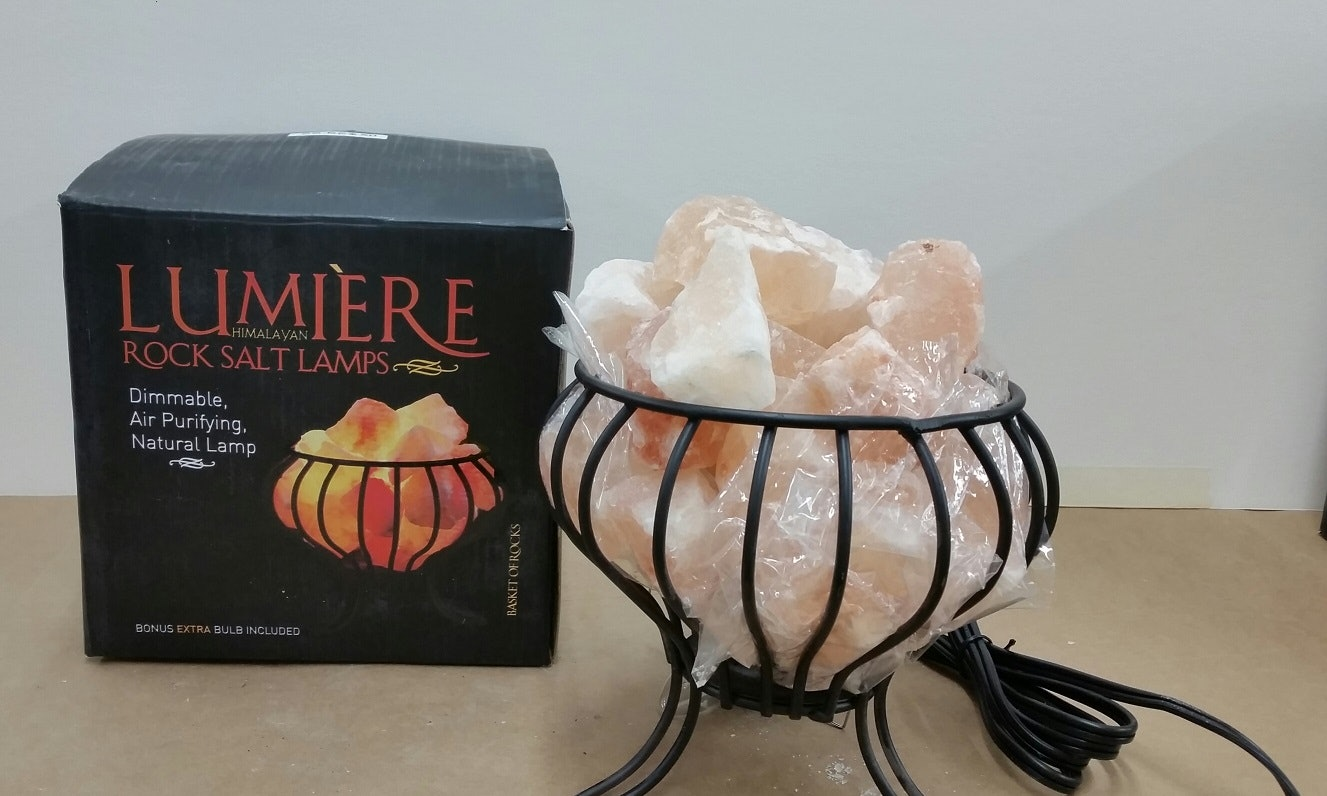 80000 rock salt lamps from Michael's being recalled for shock, fire hazards