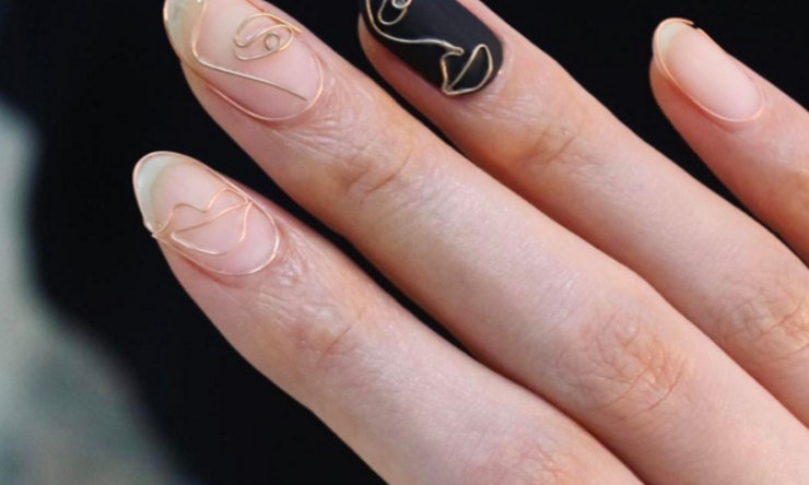 The wire manicure trend is the edgy take on nail art you need to the wire manicure trend is the edgy take on nail art you need to see photos prinsesfo Images