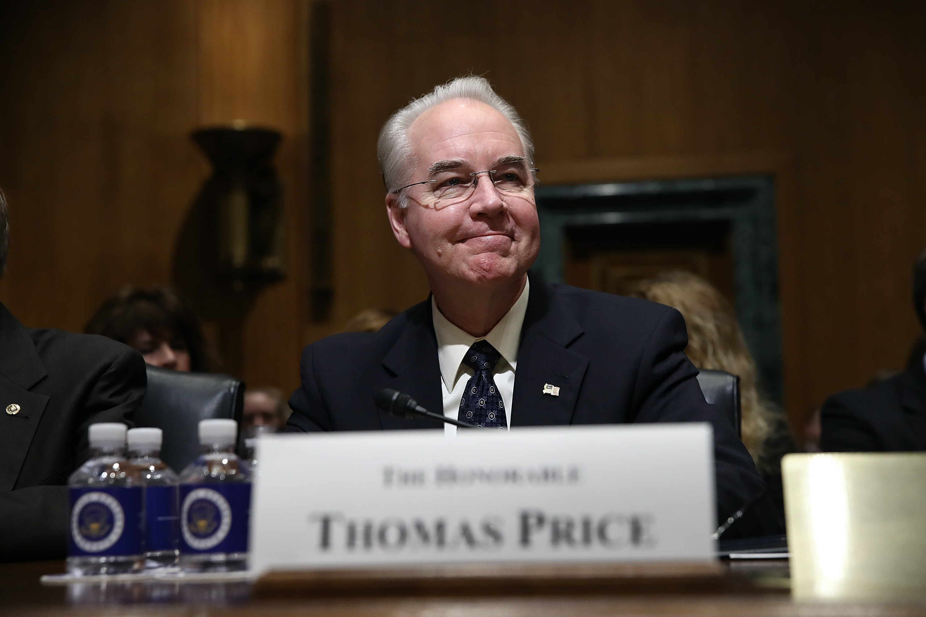 Senate on cusp of confirming Tom Price as Trump's health chief