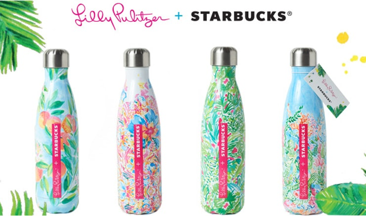 How To Get A Lilly Pulitzer X Starbucks S 39 Well Bottle For