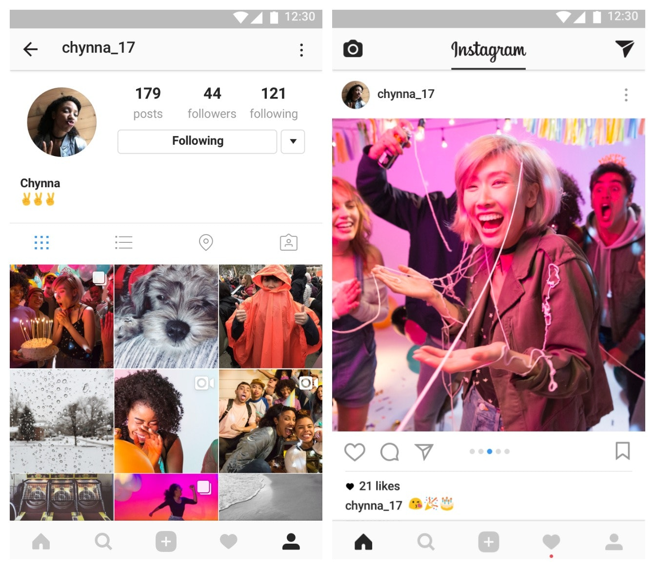Instagram lets you share up to 10 photos in one post