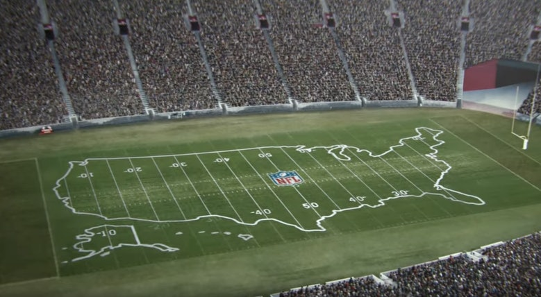The Inside These Lines NFL Super Bowl Commercial Makes A - Super bowl ads lines on us map