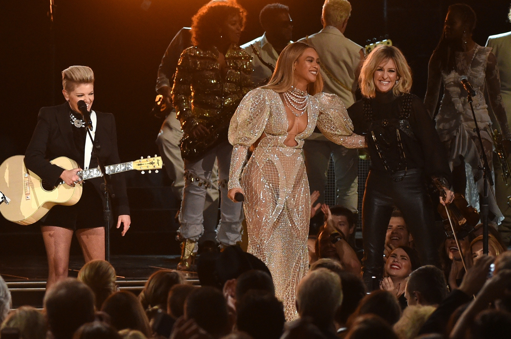 Watch Beyonce's Stunning Performance at the Grammys