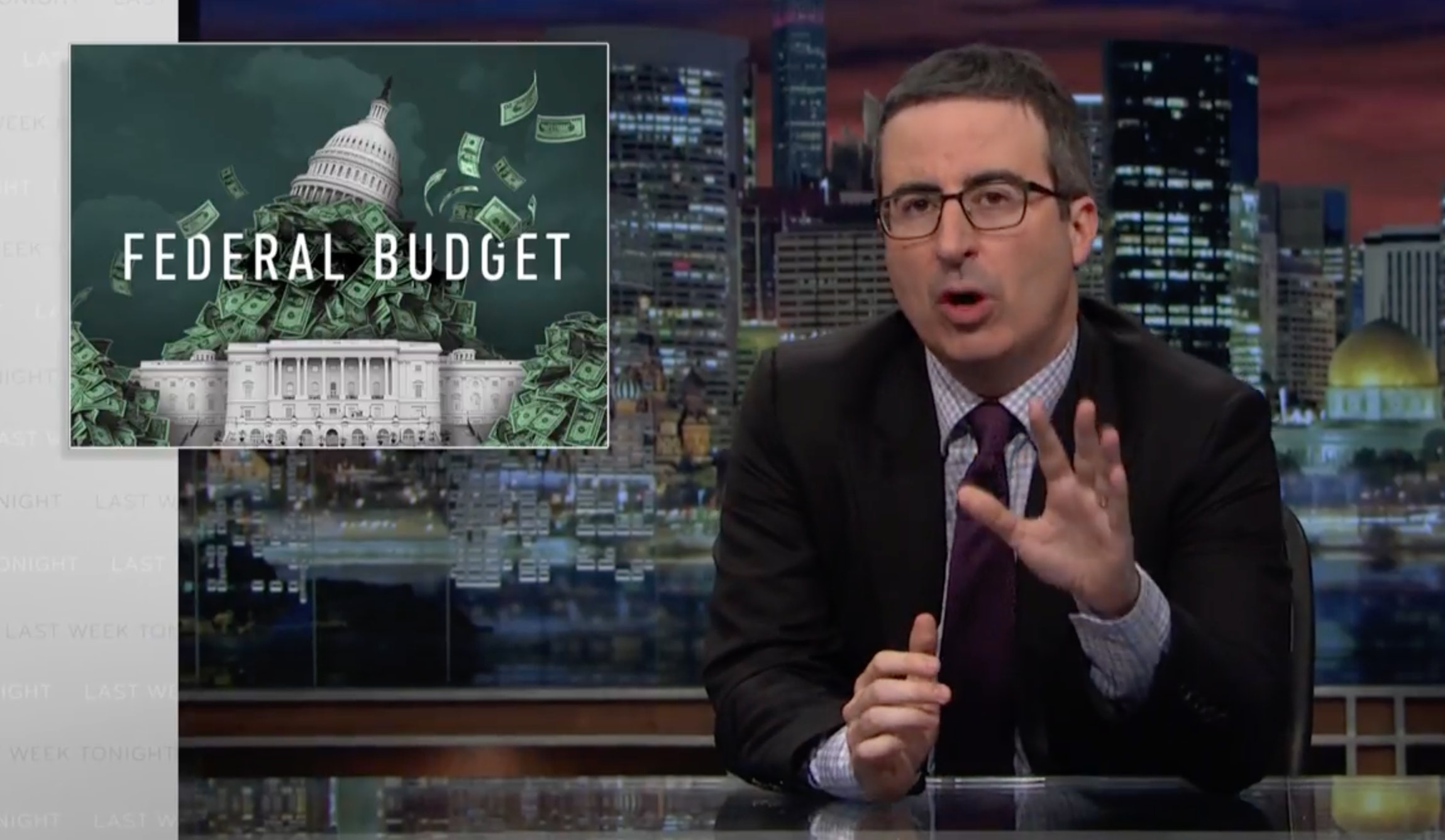 John Oliver on Trump's budget cuts: 'impatient, vain and horny for malice'