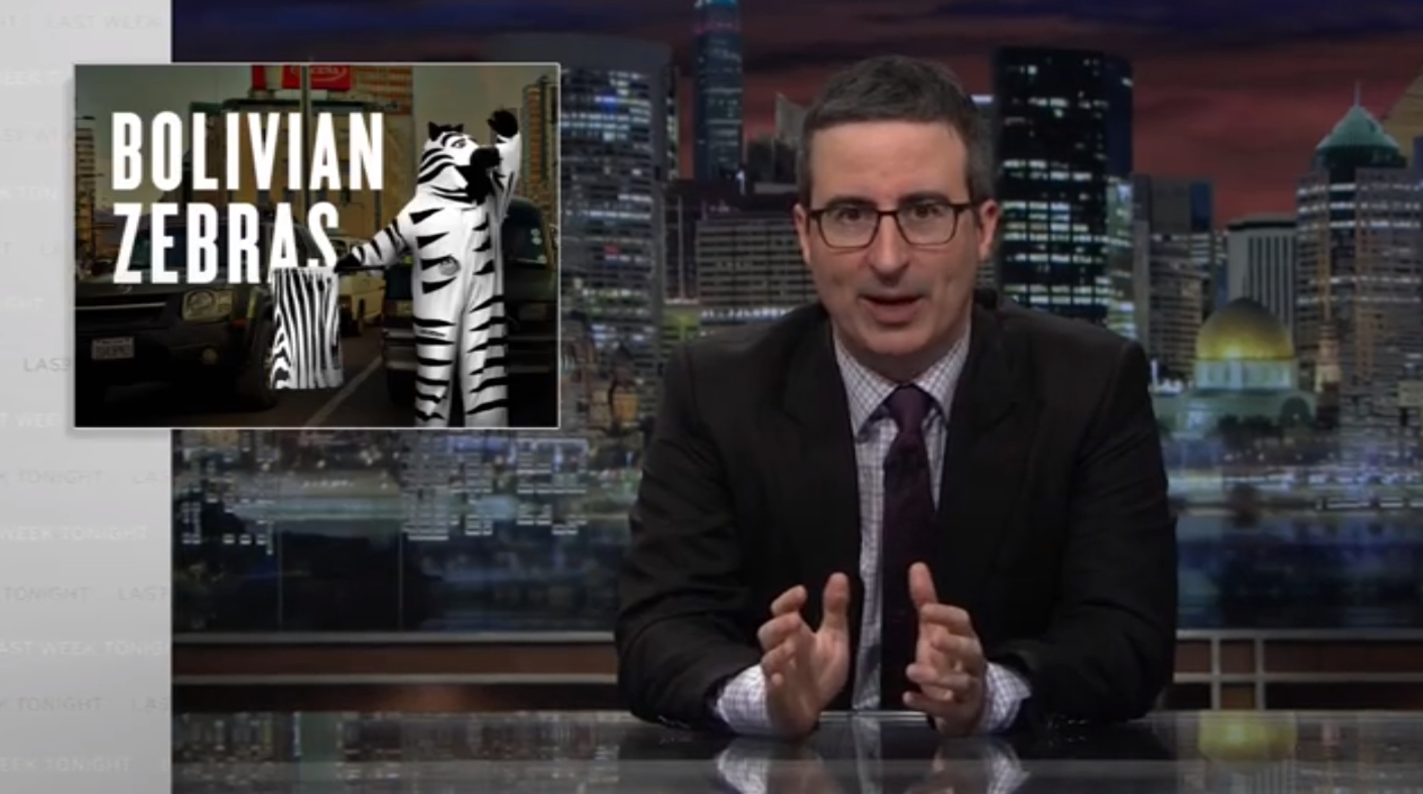 John Oliver Compares Donald Trump's Budget Cuts to America's End Credits