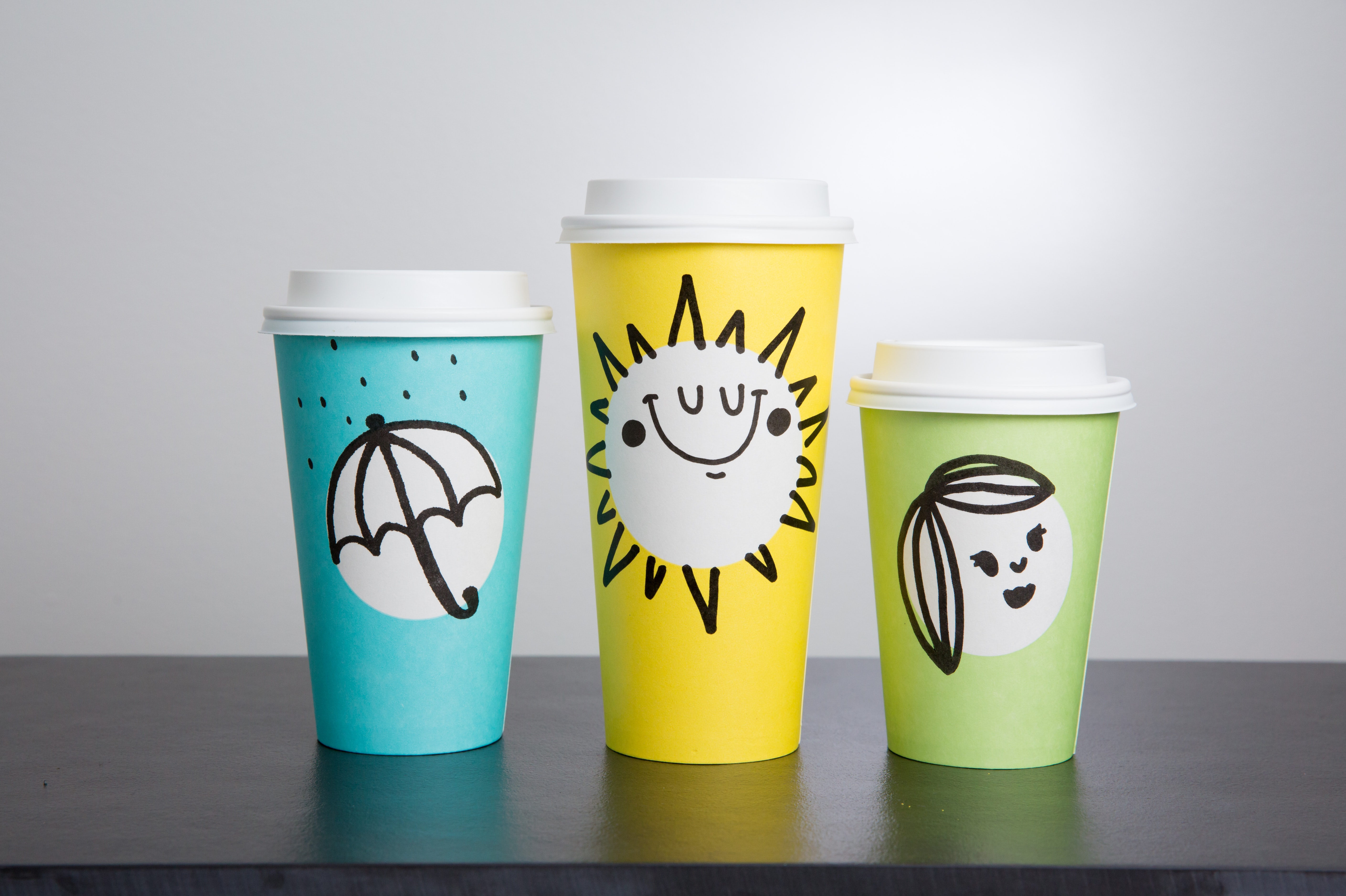 Take a look at Starbucks first-ever spring cups