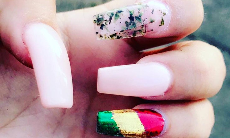 Weed nail art is a thing if youre interested in a 420 friendly weed nail art is a thing if youre interested in a 420 friendly manicure prinsesfo Image collections