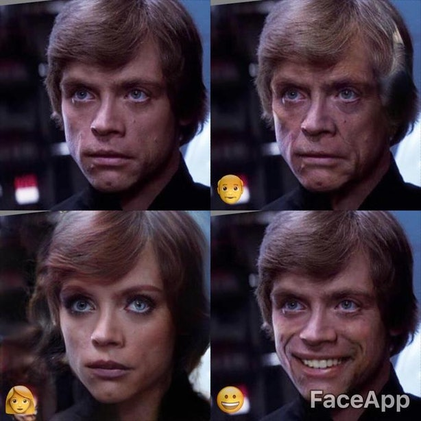 Wajah Luke SkyWalker