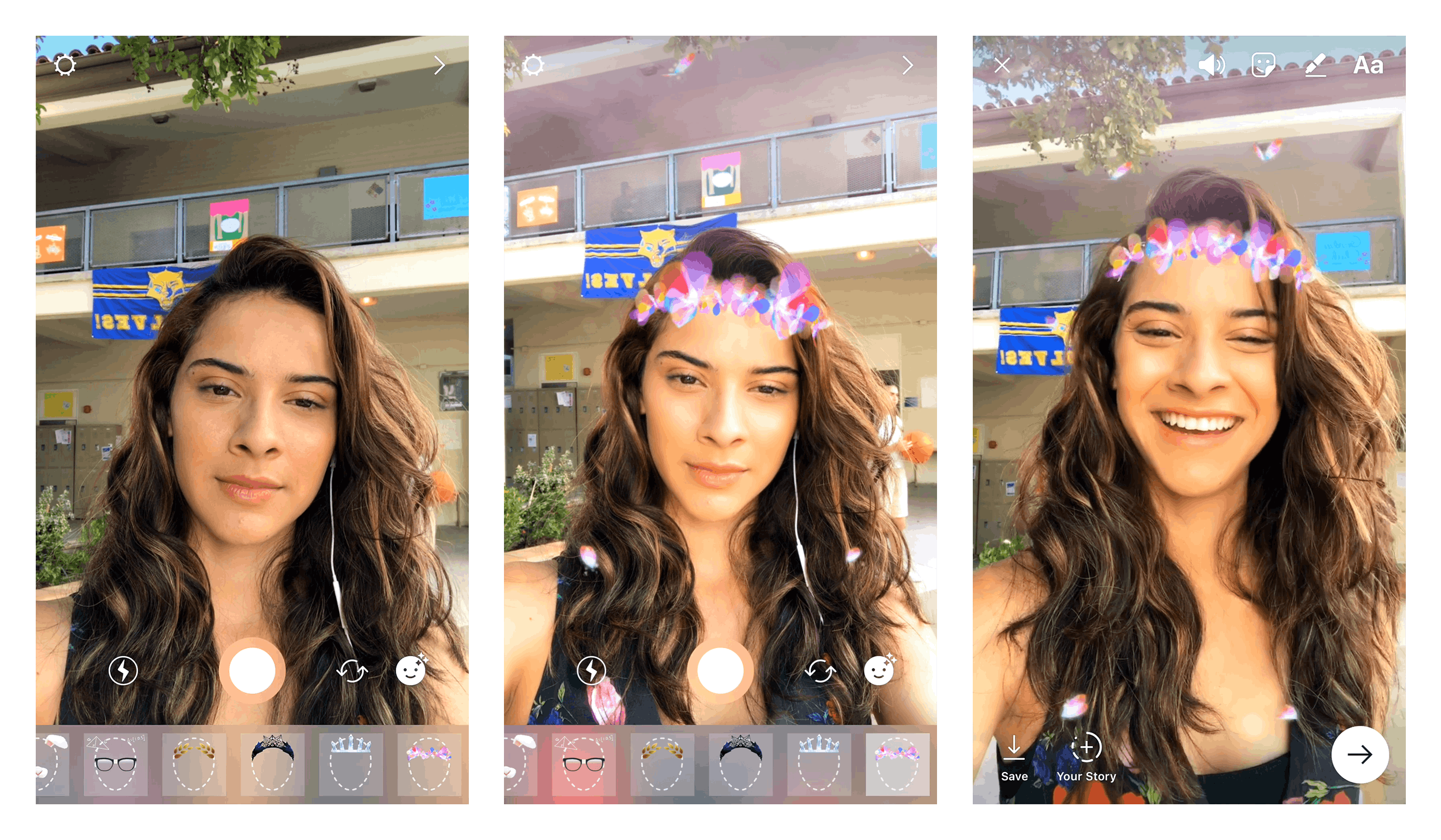 Instagram stories go full Snapchat with new face filters