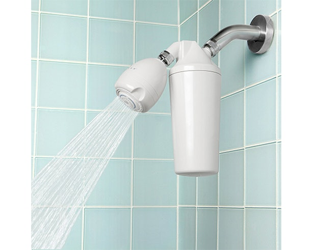 how to clean hard water from shower head