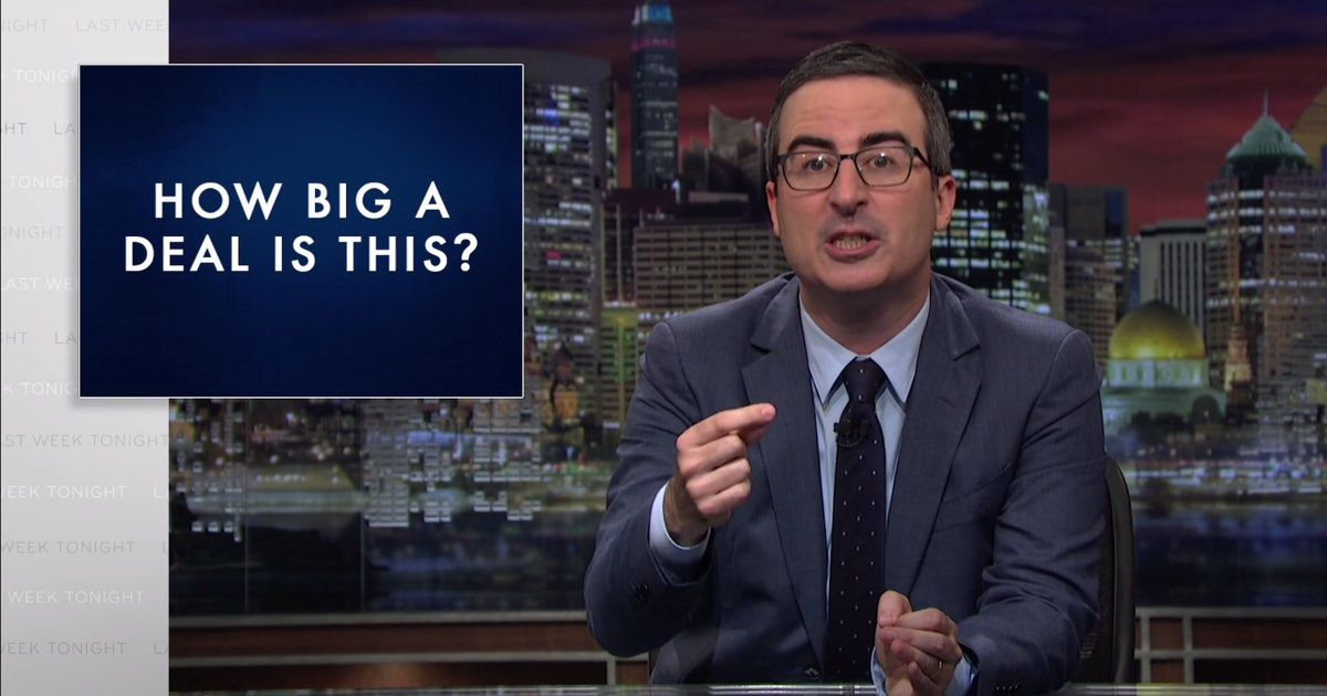 """John Oliver Sums Up """"Stupid Watergate"""" With 4 Questions ..."""