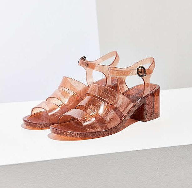 Tory Burch Logo Jelly Slide (Navy Sea) Women's Slide Shoes