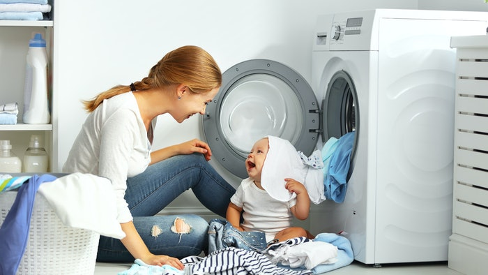 Image result for child & clothes dryer