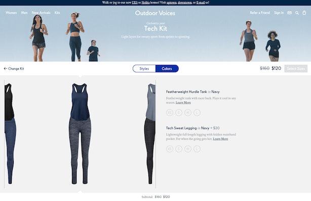 Outdoor Voices' Virtual Closet Will Make Shopping For