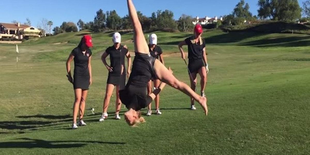 Sdsu Women S Golf Team Puts Together Some Insane Trick