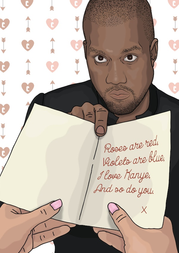 Kanye West Valentines Day Cards Are The Best Way To Show Your – Kanye Valentine Card