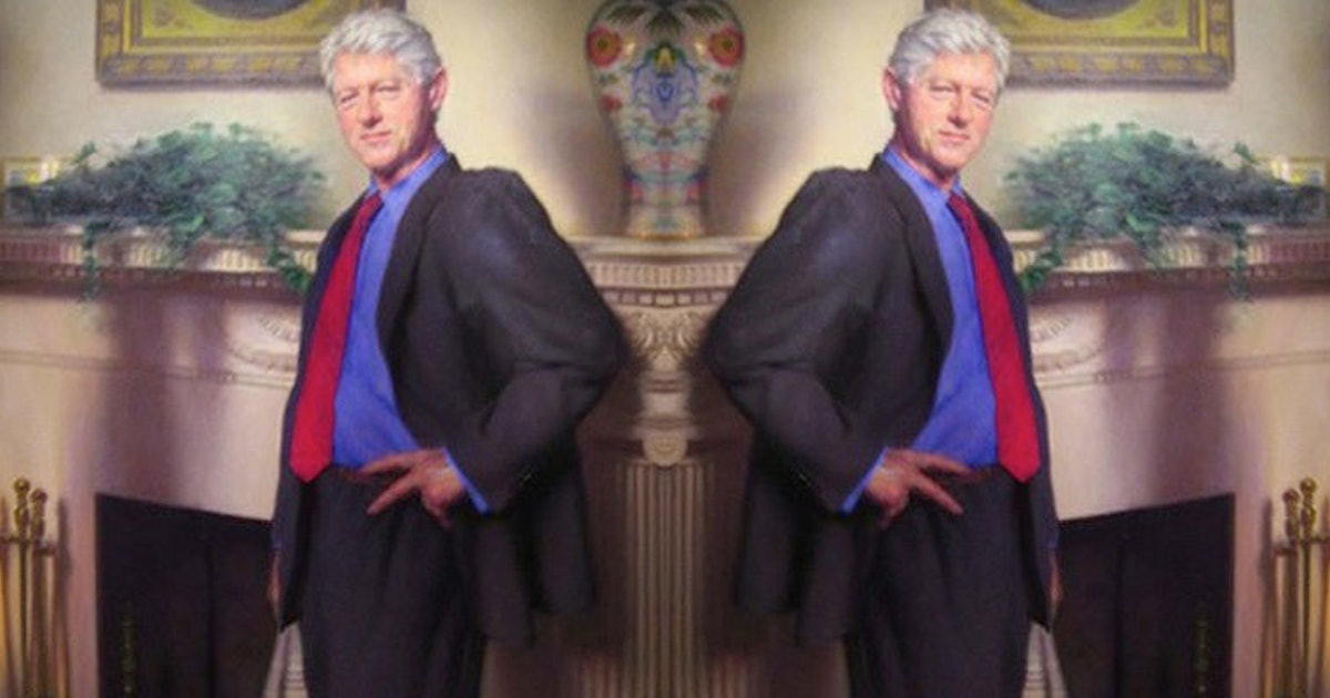 Artist Snuck Monica Lewinsky S Blue Dress In Portrait Of