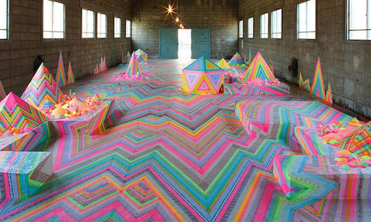 This Candy Floor Art Installation Puts Even Willy Wonka To