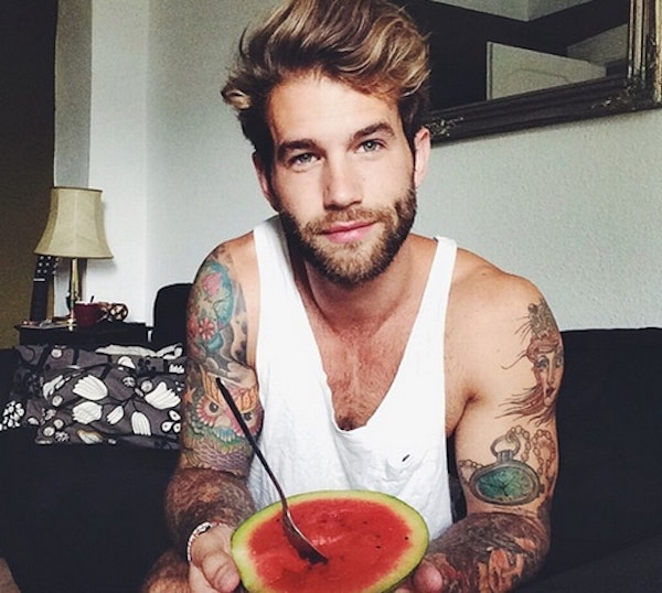Sexiest man with tattoos