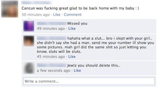 Cheating slut girl friend