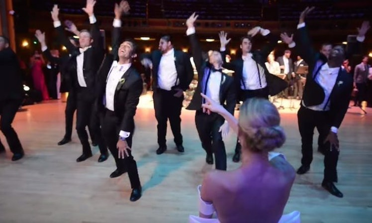 These Groomsmen Win The Wedding Game With This Surprise Dance Routine Video