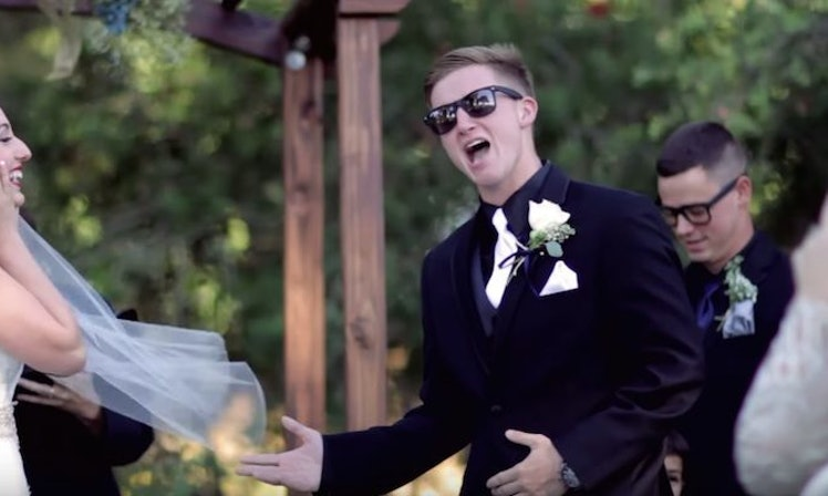 Groom Totally Slays His Wedding Vows With An Epic Love Song Mashup Video
