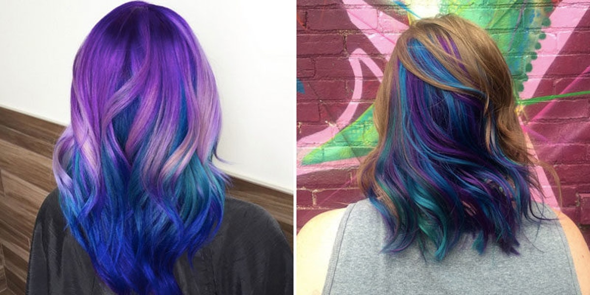 Women Are Dyeing Their Hair Bright Colors To Look Like