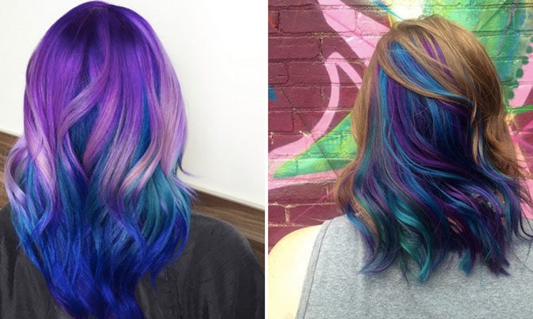 Women Are Dyeing Their Hair Bright Colors To Look Like Peacock - Peacock hairstyle color