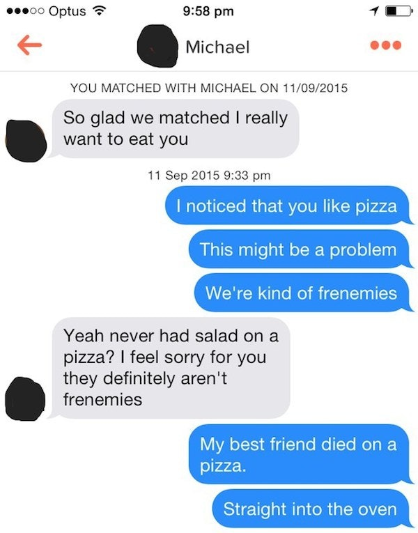 tinder spam examples