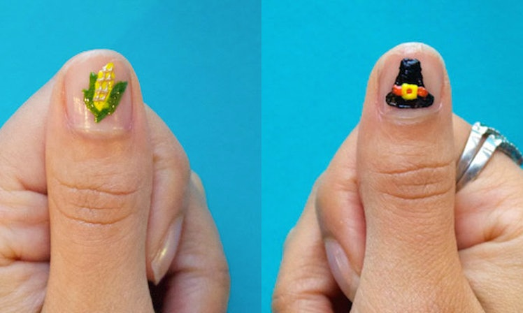 4 easy thanksgiving nail art designs that dont require special skills celine rahman prinsesfo Images