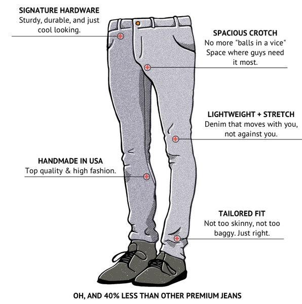 Cock up trouser leg