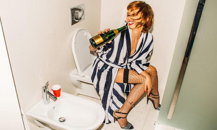drunk naked women shower