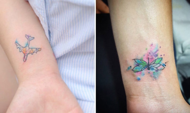 20 Tiny Watercolor Tattoos That Will Inspire You To Be