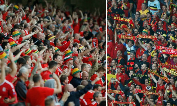 wales and belgium fans are partying in france like there 39 s no tomorrow. Black Bedroom Furniture Sets. Home Design Ideas