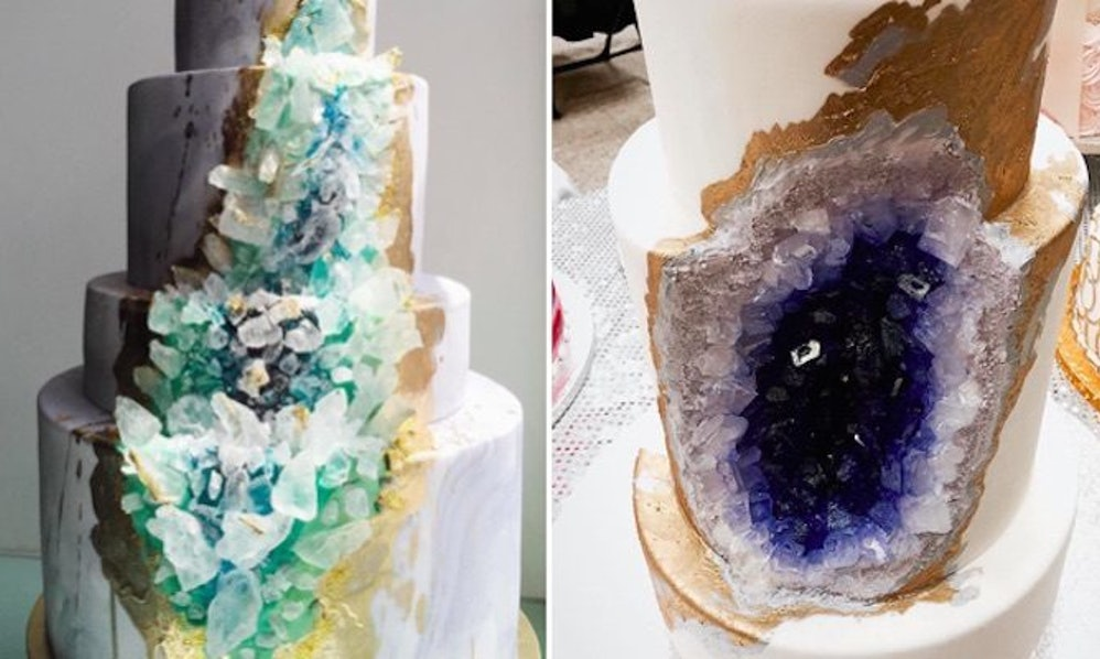 Geode Wedding Cakes Is A New Trend That Literally Rocks - Geode Wedding Cake