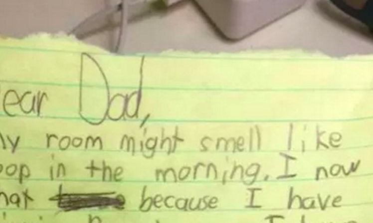 Elite Auto Credit >> Sick Little Girl Leaves Dad Graphic Note About What He'll ...