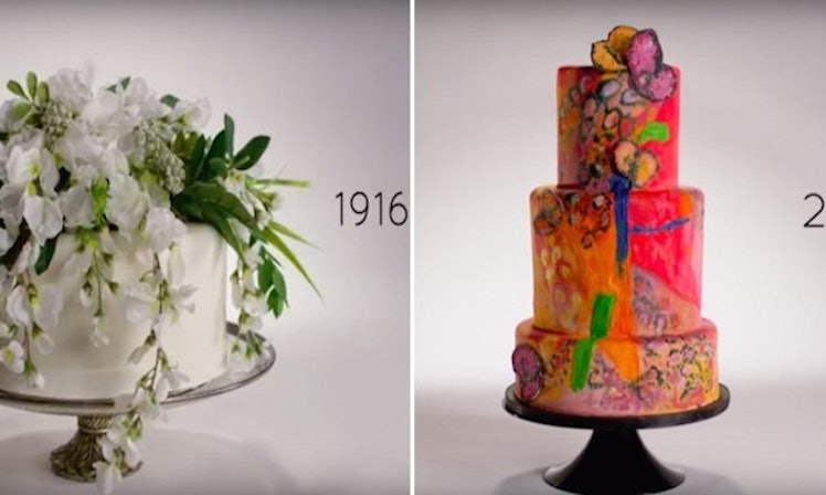 This Is How Much Wedding Cakes Have Changed Over The Last ...