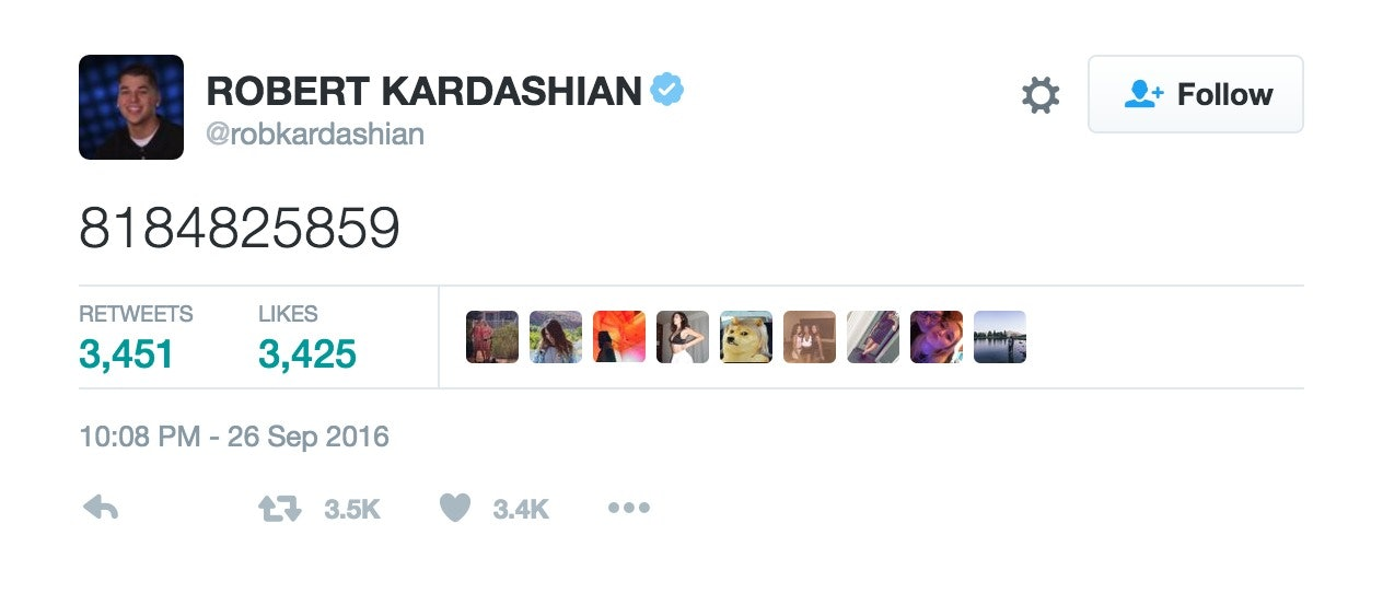 Kardashian 'kylie Number Phone Tweeted Jenner's' Out Rob GMSpqUVz