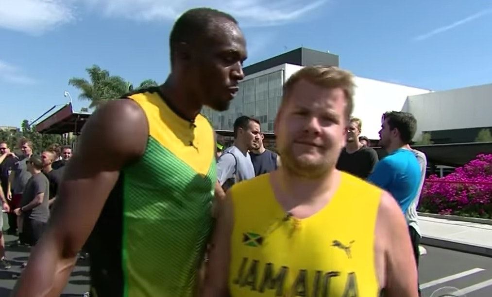 James Corden Ran Against Usain Bolt And The Post Race Interviews Are