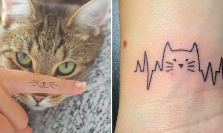 25 tiny tattoos that prove being a cat lady is finally cool for Cat lady tattoo